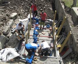 Water Meter Pit Installation: Parc du Mercantour, France