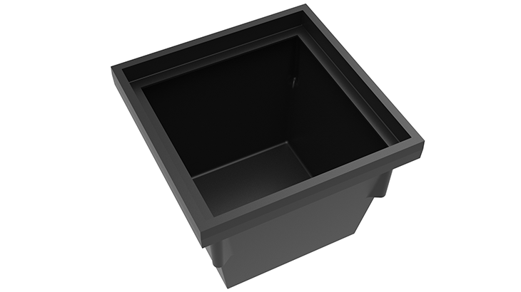 Square Plastic Pit Available Sizes 730 x 410