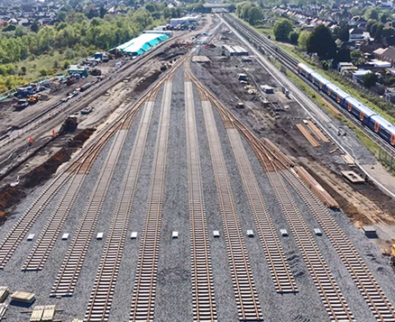 South Western Railway's New Rail Depot at Feltham